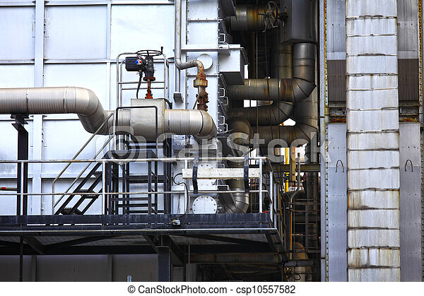 Industrial building, Steel pipeline - csp10557582