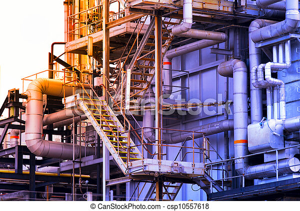 Industrial building, Steel pipelines - csp10557618