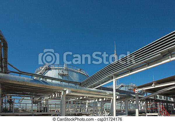 Industrial building, Steel pipelines - csp31724176