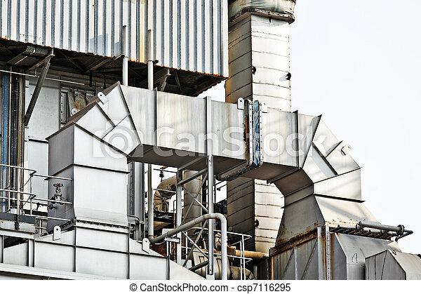 Industrial building, Steel pipelines - csp7116295