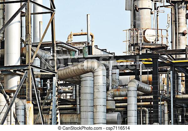 Industrial building, Steel pipelines - csp7116514