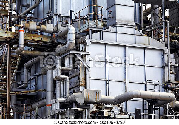 Industrial building, Steel pipelines - csp10678790