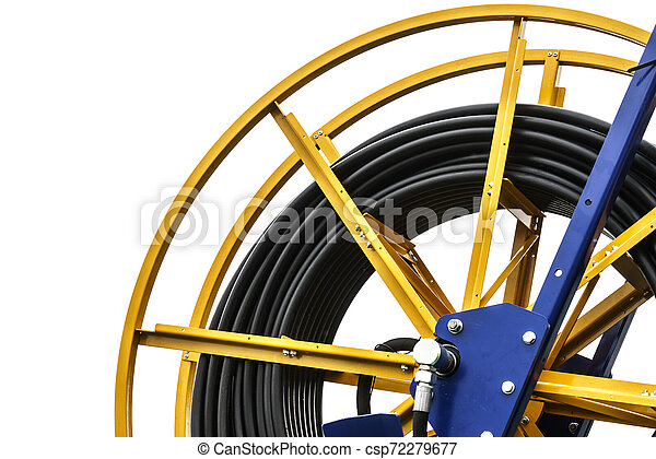 Industrial cables rolled up on reel - csp72279677