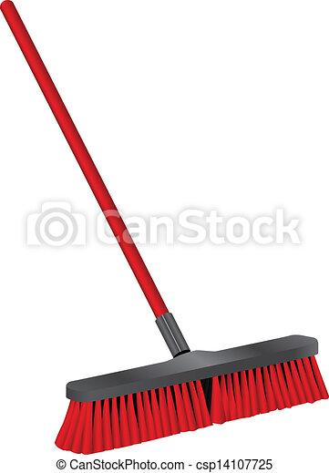 Un cepillo industrial para limpiar - csp14107725