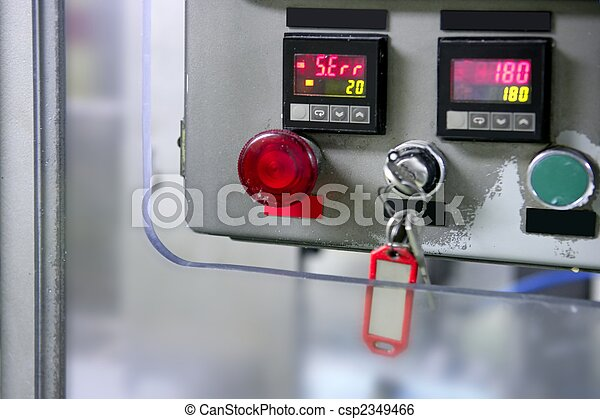 Industrial control panel installation button - csp2349466