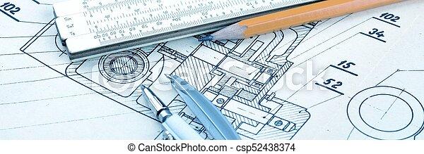 industrial, dibujo - csp52438374