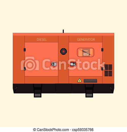 diesel generator icon back up industrial diesel generator csp59335766 diesel generator generator on white