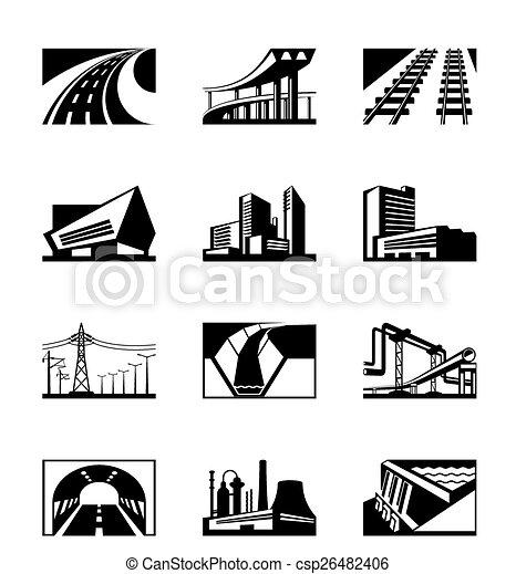 Construcción industrial diferente - csp26482406