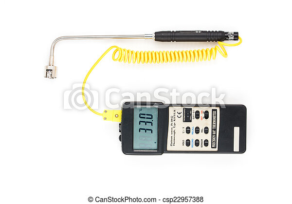 Industrial Digital Thermometer - csp22957388