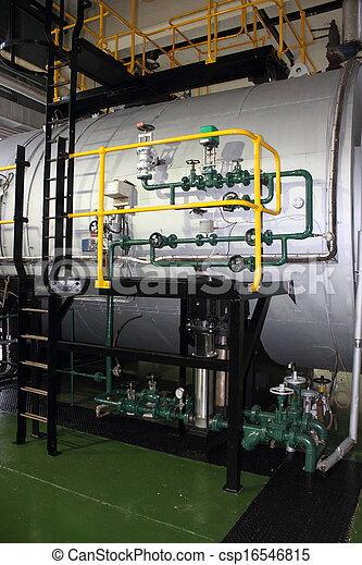 Industrial duel fuel steam boiler - csp16546815