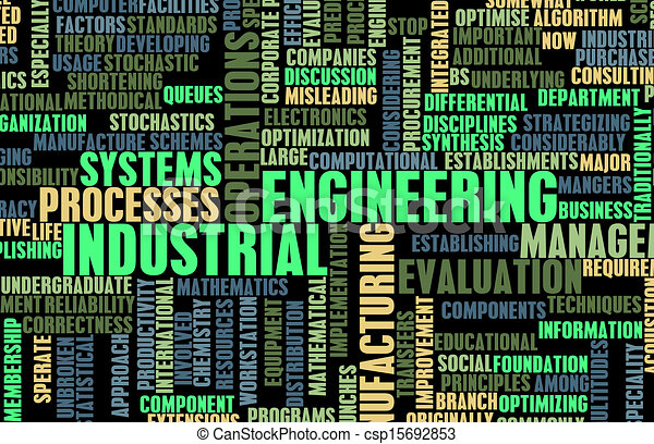 Industrial engineering job career as a concept.