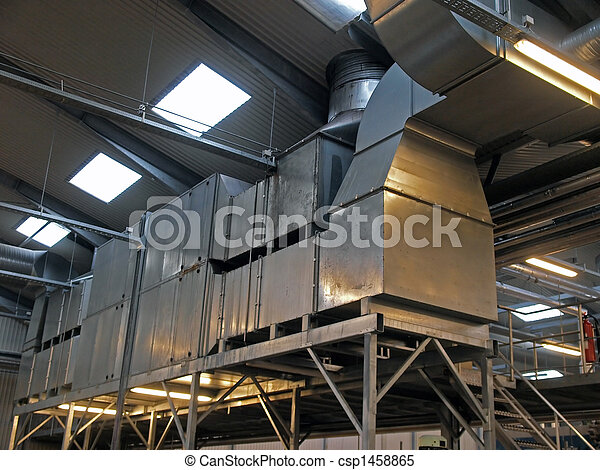 Industrial factory plant HVAC ventilation - csp1458865