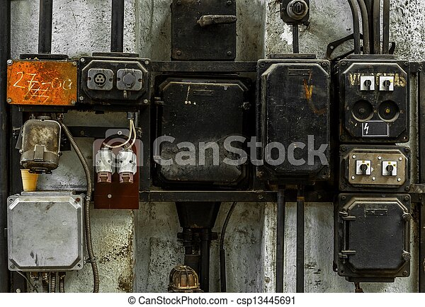 industrial fuse box on the wall closeup photo rh canstockphoto com