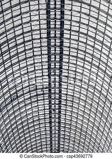industrial glazed roof - csp43692779