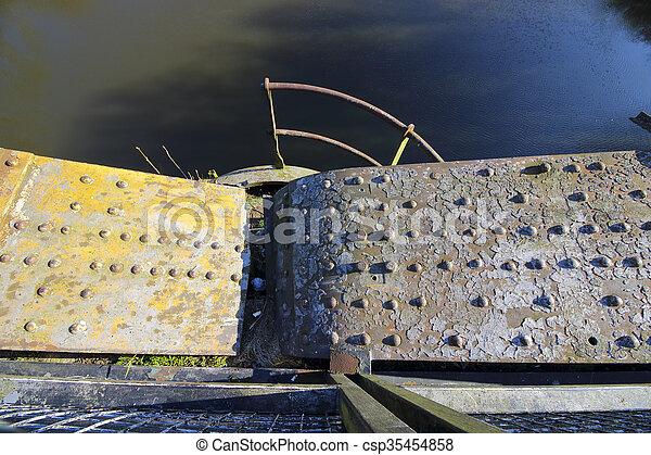 industrial grunge metal background - csp35454858