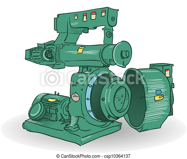 Industrial Machine Illustration - csp10364137