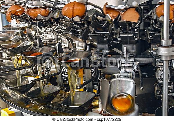 Industrial machinery for broken eggs 3 - csp10772229