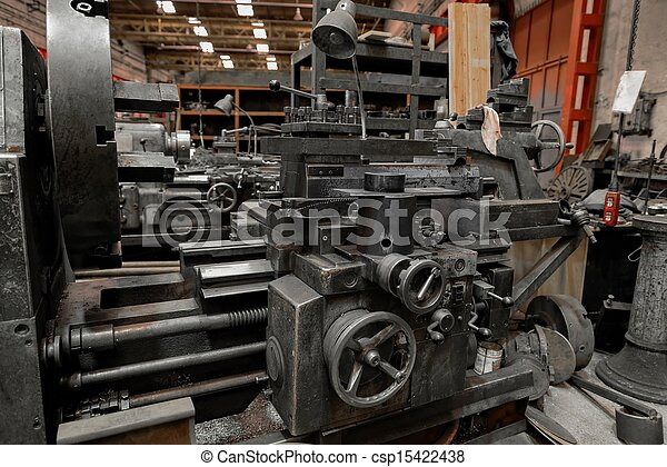 Industrial machines in a factory  - csp15422438
