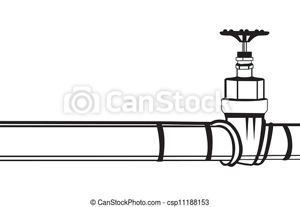 industrial pipeline and gas valve vector illustration rh canstockphoto com pipeline clip art free pipeline clipart images