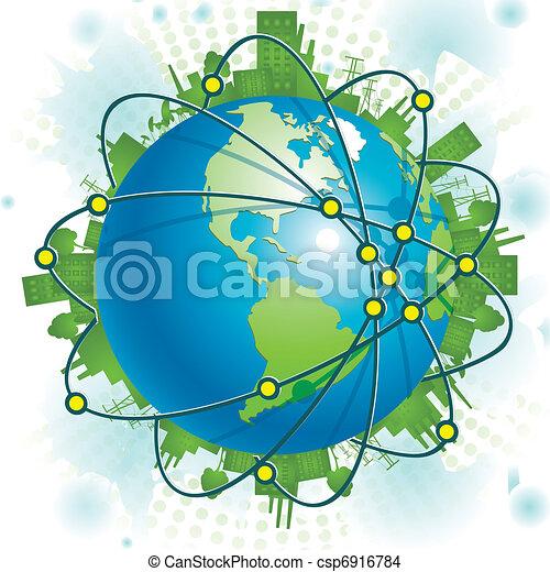 Industrial Planet - csp6916784
