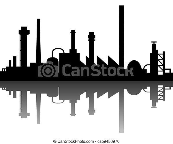 industrial, plano de fondo - csp9450970