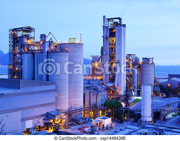 Industrial plant at dusk - csp14484398