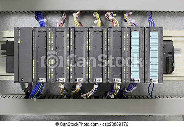 Industrial PLC - csp23889176