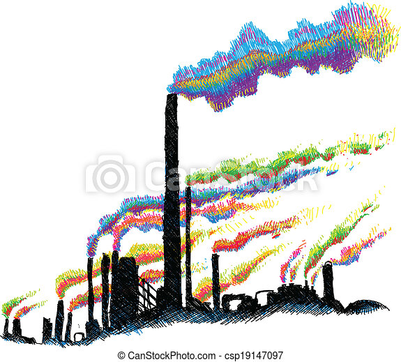 industrial pollution colorful cartoon smoke belches from eps rh canstockphoto com water pollution clipart pollution clipart
