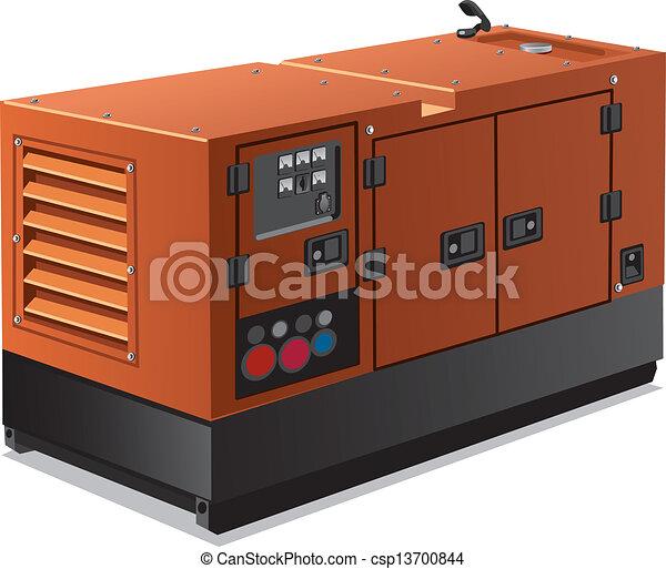 diesel generator icon. vector industrial power generator diesel icon d