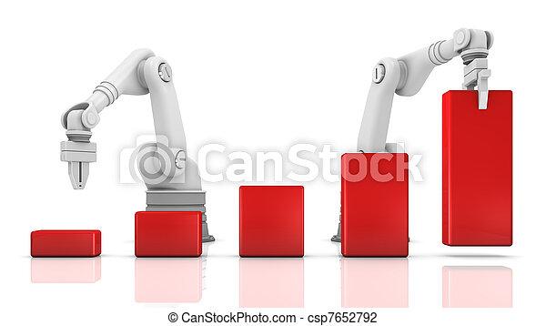 Industrial robotic arms building chart - csp7652792