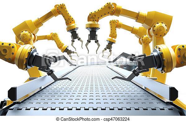 Industrial robotic arms - csp47063224