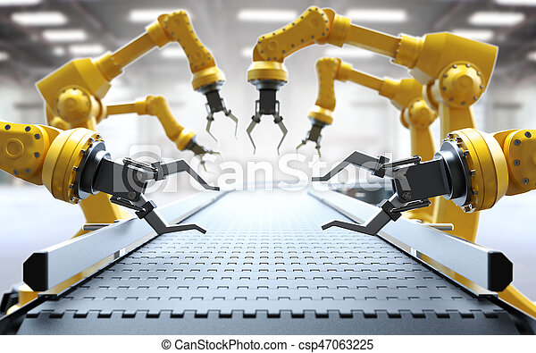 Industrial robotic arms - csp47063225