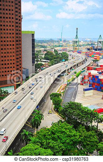 Singapore industrial - csp31980763