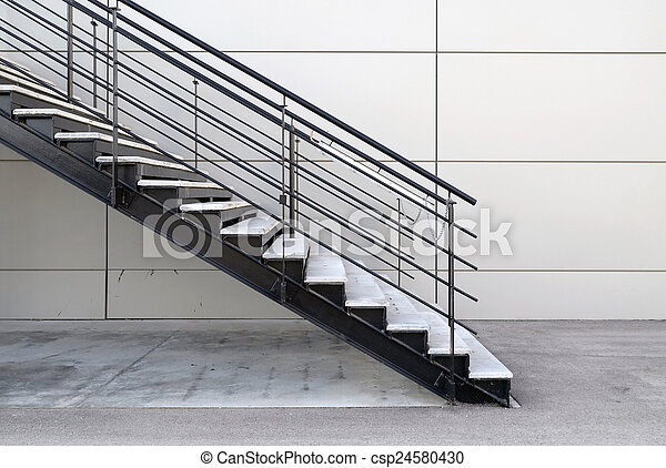 Industrial Stairs Exterior   Csp24580430