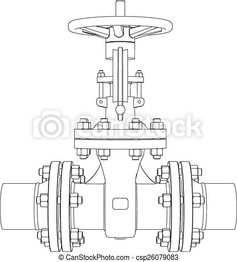 Industrial valve. Vector rendering of 3d - csp26079083