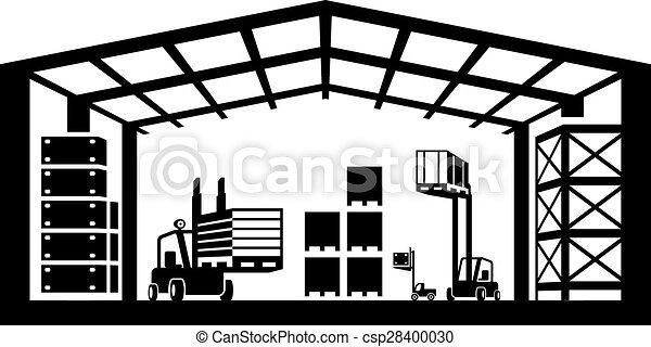 Industrial warehouse scene - csp28400030