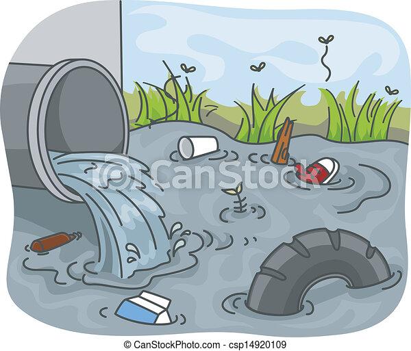 Industrial Waste Water Pollution - csp14920109