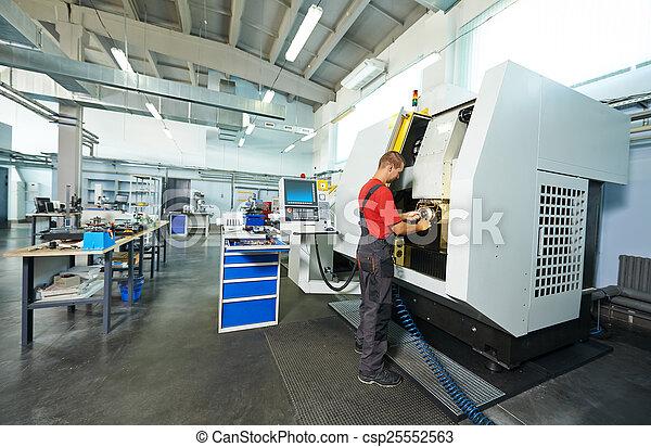 industrial worker at tool workshop - csp25552563