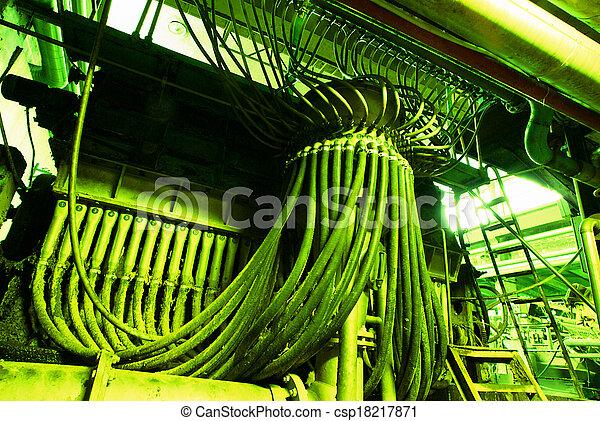 Industrial zone, Steel pipelines - csp18217871