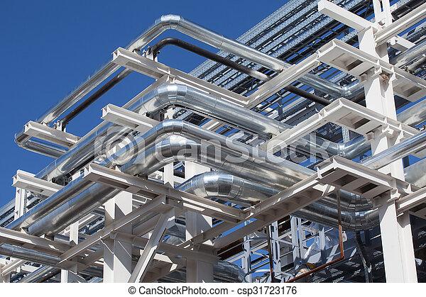 Industrial zone. Steel pipelines - csp31723176