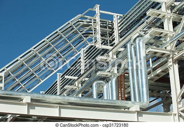 Industrial zone. Steel pipelines - csp31723180
