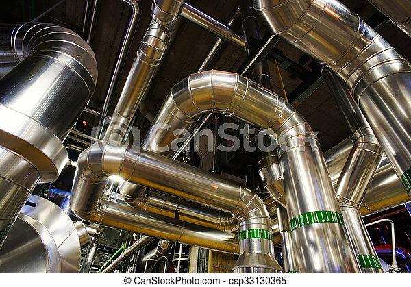 Industrial zone, Steel pipelines  - csp33130365
