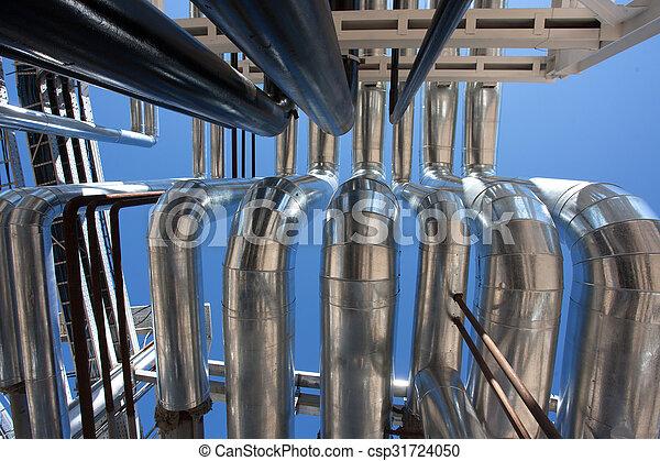 Industrial zone. Steel pipelines - csp31724050