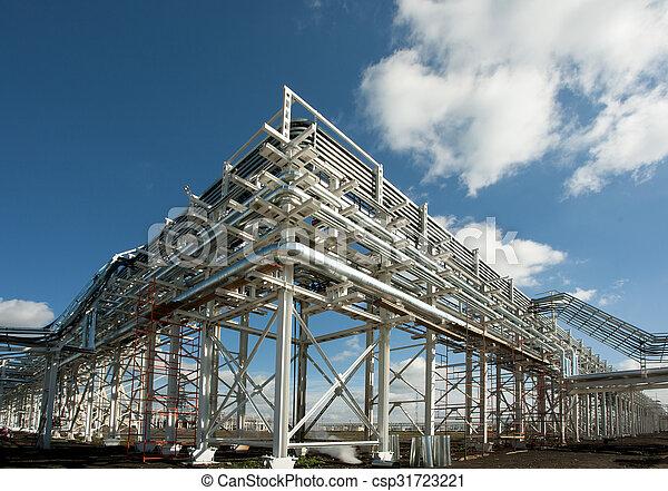 Industrial zone. Steel pipelines - csp31723221