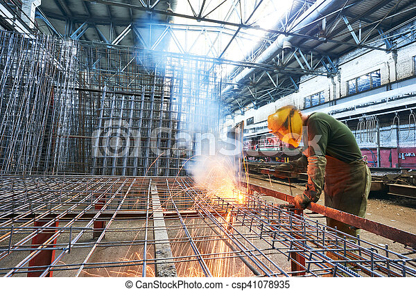 industriale, lavoro, arco, saldatura - csp41078935