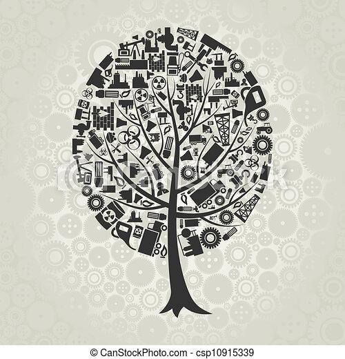 industrie, arbre - csp10915339