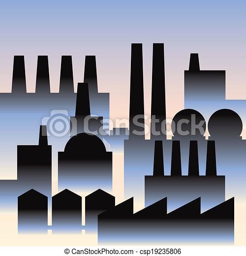 industrie, bâtiments - csp19235806