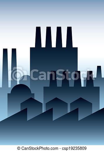 industrie, bâtiments - csp19235809