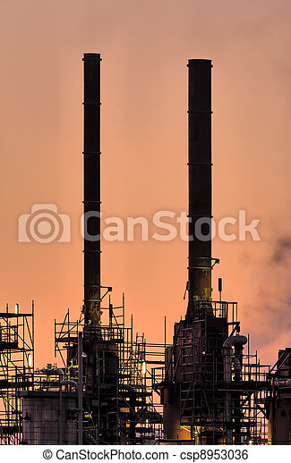 industrie, cheminées, botlek. - csp8953036