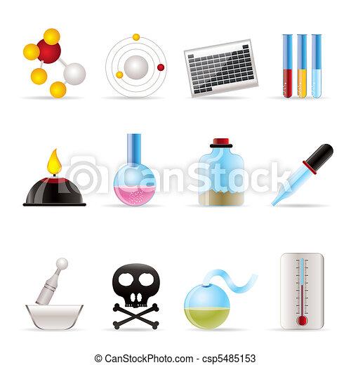 industrie, chimie, icônes - csp5485153